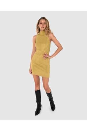 Madison The Label Tessa Knit Dress - Bodycon Dresses (Citrus) Tessa Knit Dress