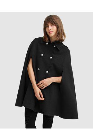 Belle & Bloom On My Mind Wool Blend Cape - Coats & Jackets On My Mind Wool Blend Cape