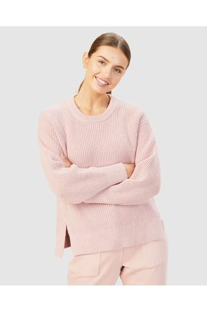 French Connection Women Sweaters - Relaxed Side Split Knit - Jumpers & Cardigans (DUSTY ) Relaxed Side Split Knit