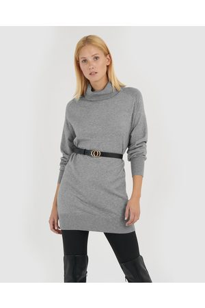 Forcast Kristy Tunic Knit Top - Jumpers & Cardigans (Mid Charcoal) Kristy Tunic Knit Top