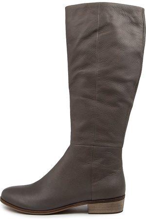 Django & Juliette Strath Lrg Dk Boots Womens Shoes Casual Long Boots