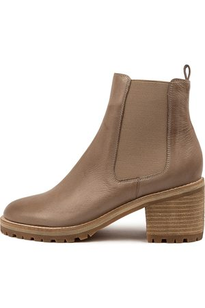 Mollini Biscoti Taupe Boots Womens Shoes Casual Ankle Boots