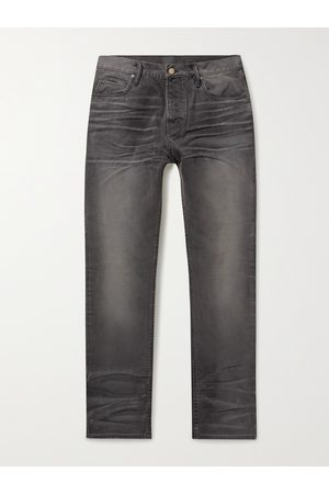 FEAR OF GOD Men Straight - Stone-Washed Cotton-Canvas Jeans