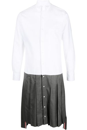 Thom Browne Pleated skirt button-down shirt