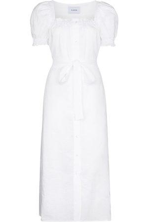 Sleeper Brigitte puff sleeve dress