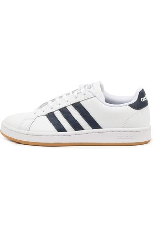 adidas Grand Court Navy Gum Sneakers Mens Shoes Casual Active Sneakers