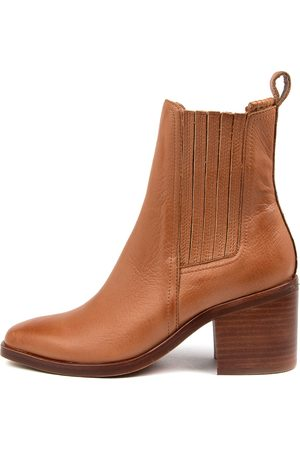 Mollini Naydo Mo Tan Heel Boots Womens Shoes Casual Ankle Boots