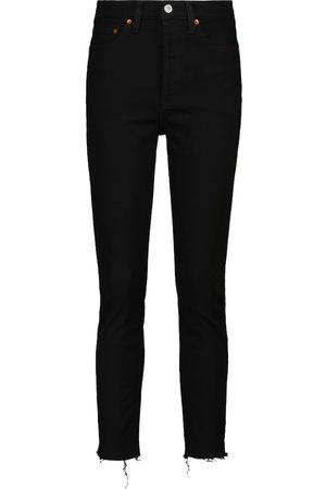 RE/DONE High-rise cropped skinny jeans