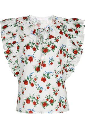 Chloé Floral cotton blouse