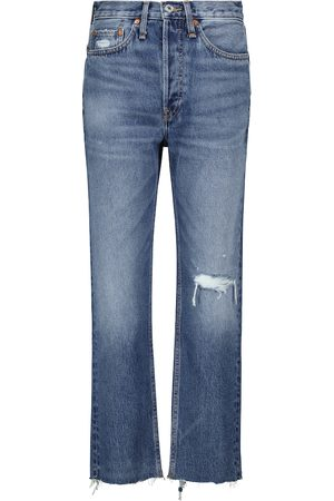 RE/DONE High-rise distressed jeans