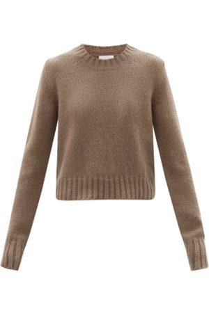 Raey Crew-neck Alpaca-blend Textured Sweater - Womens - Light