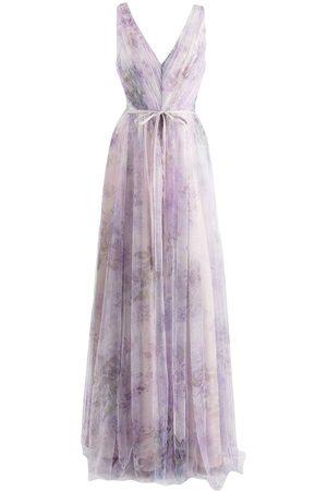 Marchesa Notte Women Printed Dresses - Sora floral-print tulle dress