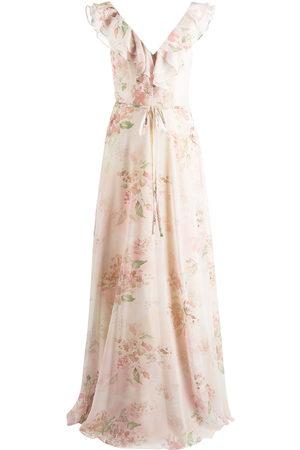 Marchesa Notte Women Printed Dresses - Desio floral-print ruffle dress