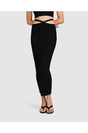 Alice In The Eve Women Midi Skirts - Izzy Strappy Knit Midi Skirt