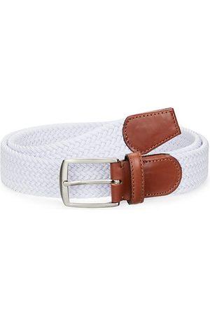 Saks Fifth Avenue Men Belts - COLLECTION Leather-Trim Woven Cotton Belt