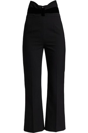 RED Valentino High-Waisted Stretch Knit Cropped Pants