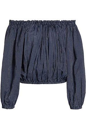 RAG&BONE Women Strapless Tops - Mimi Off-The-Shoulder Stripe Top