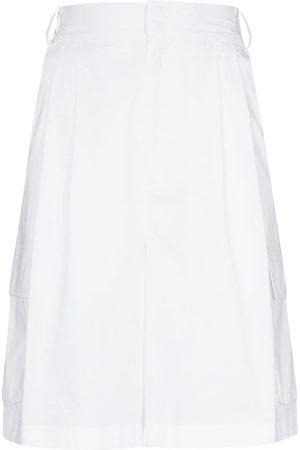 tibi Women Shorts - High-rise tailored shorts