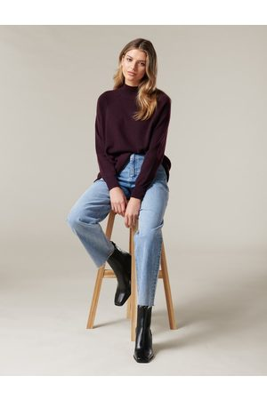 Forever New Women Sweaters - Georgia Stand Neck Raglan Knit Jumper