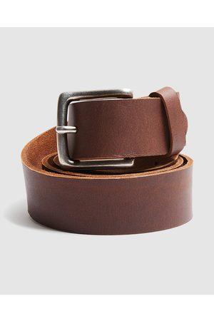 Arvust Men Belts - Everyday Leather Belt Tan