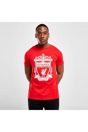 Official Team Liverpool FC Crest Short Sleeve T-Shirt - - Mens