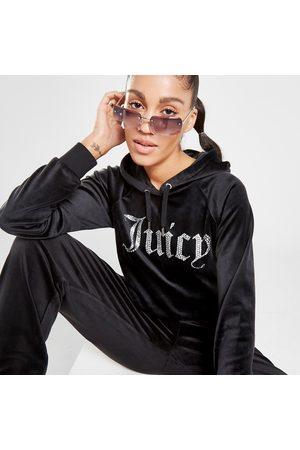 Juicy Couture Women Hoodies - Diamante Logo Velour Hoodie - - Womens