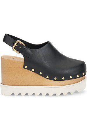 Stella McCartney Studded Vegan-Leather Platform Clogs