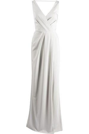 Marchesa Notte Bridesmaids Cowl-detail floor-length gown