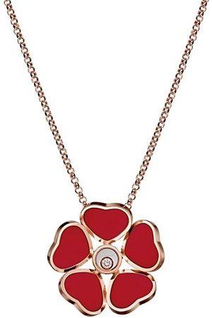Chopard Happy Diamonds Happy Hearts 18K Rose Gold, Diamond & Stone Pendant Necklace