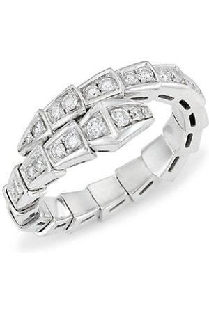 Bvlgari Serpenti Viper 18K & Diamond Wrap Ring