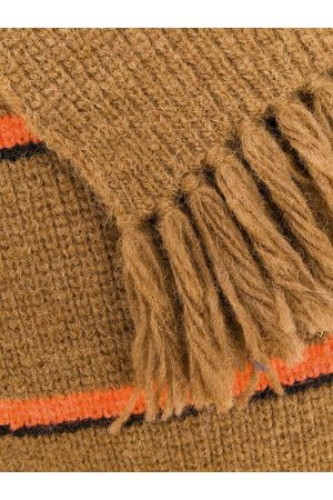 Ami Men Scarves - Contrasted Stripes Scarf
