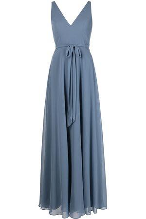 Marchesa Notte Bridesmaids Women Sleeveless Dresses - V-neck sash belt sleeveless gown