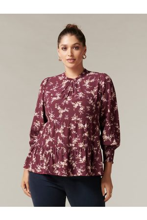 Forever New Women Blouses - Aurora Curve Tiered Blouse