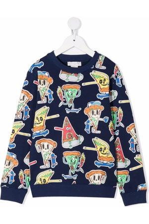Stella McCartney Boys Sweatshirts - Pizza Skaters graphic-print sweatshirt