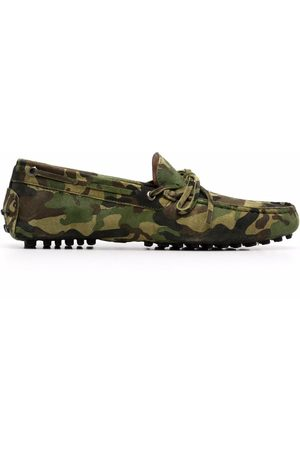 Scarosso James camouflage-print loafers
