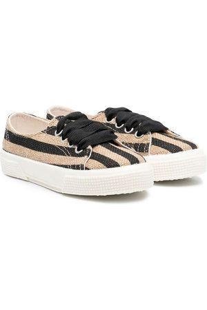 PèPè Striped lace-up trainers