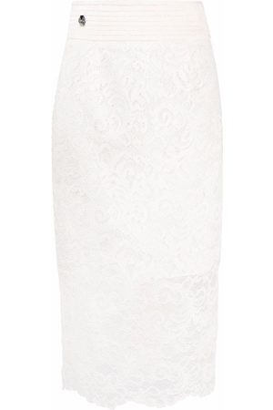 Philipp Plein Lace-patterned pencil skirt