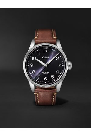 Oris Men Watches - Big Crown ProPilot Big Date Automatic 41mm Stainless Steel and Leather Watch, Ref. No. 01 751 7761 4065-07 6 20 07LC