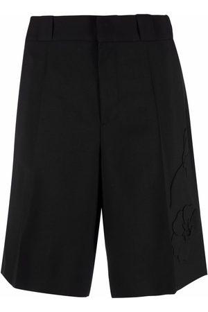 VALENTINO Men Bermudas - Garden floral-embroidered shorts