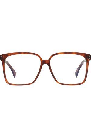 Gucci Women Sunglasses - Tortoiseshell-effect square-frame glasses