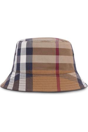 Burberry Men Hats - Check cotton-canvas bucket hat