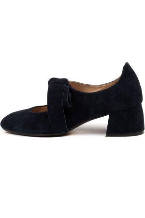 Django & Juliette Women Heels - Chiara Dj Navy Shoes Womens Shoes Casual Heeled Shoes