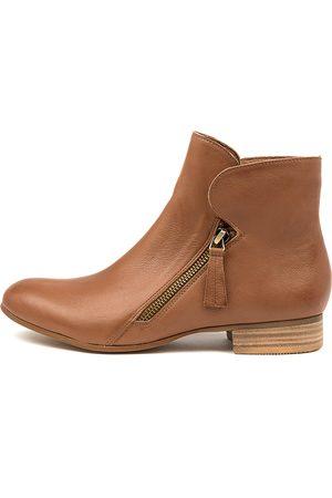 DJANGO & JULIETTE Women Ankle Boots - Fumiko Lrg Cognac Boots Womens Shoes Casual Ankle Boots