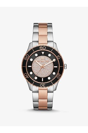 Michael Kors Watches - MK Oversized Runway Dive Pavé Two-Tone Watch - Two Tone