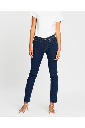 Elvie & Leo Women Boyfriend - The Boyfriend Straight Super Stretch Selvage Jeans - Jeans ( Cast Indigo) The Boyfriend Straight Super Stretch Selvage Jeans