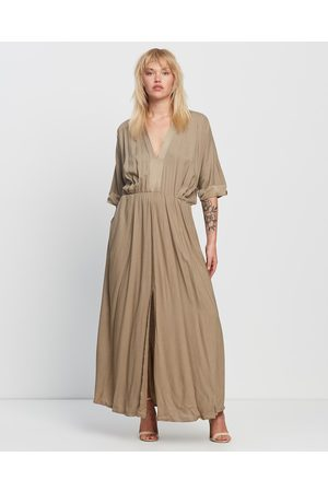 Uma and Leopold Uma Kaftan - Dresses (Olive) Uma Kaftan