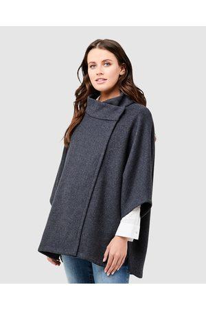 Ripe Maternity Women Ponchos & Capes - Devon Cape - Coats & Jackets (Charcaol) Devon Cape