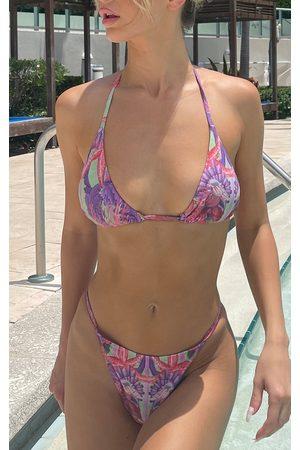 PRETTYLITTLETHING Bikinis - Lilac Under The Sea Itsy Bitsy Bikini Bottom