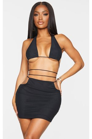 PrettyLittleThing Bodycon Dresses - Shape Mesh Cut Out Rope Detail Bodycon Dress