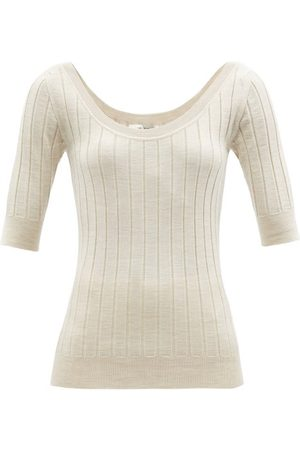 The Row Colombe Ribbed Wool-blend Sweater - Womens